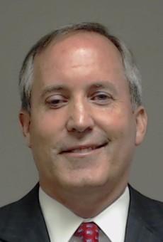 Mug shot of Texas Attorney General Ken Paxton.