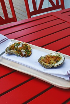 The Texas (left) and Casino oysters at Shuck Shack.