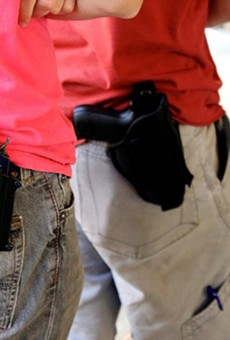 Texas is now an open carry state, but businesses can adopt a non-open carry policy for its customers.