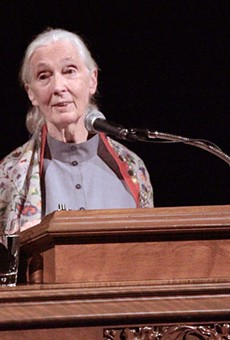 Jane Goodall's lecture at Trinity University sold out within an hour.