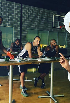 Check Out These Behind-The-Scenes Shots From This Year's Spurs H-E-B Commercial Shoot
