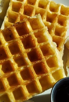 We have to remember what's important in life: waffles, friends, work. Or friends, waffles, work.