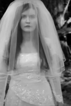 Hyperbubble singer Jessica walks through the woods in the duo's eerie new video.