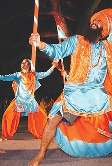 Dancers from Punjab, India, perform during 2012's celebration.