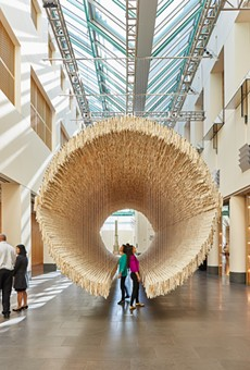 Boat by Zhu Jinshi is made of Xuan paper, bamboo and cotton thread.
