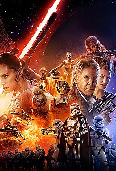 Official Star Wars: The Force Awakens poster artwork by Drew Struzan.