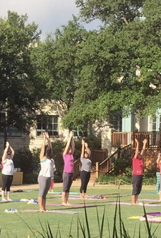 San Antonio's Southtown Yoga Loft holding outdoor yoga series in collaboration with hill country resort