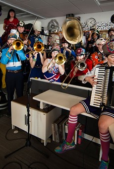 One of the larger performers at the tiny desk,  Mucca Pazza