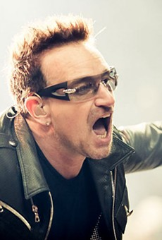 """""""Gimme some fookin' money for the homeless people, ya shite!"""" is what Bono is probably not saying."""