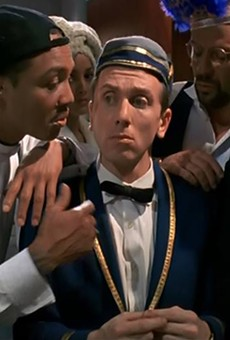 Tim Roth as bumbling bellboy in Four Rooms