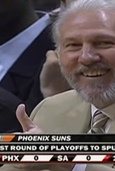 Two thumbs up for Popovich's 16th Coach of the Month award.
