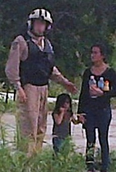 This 2014 photo shows a dehydrated teenage girl accompanied by a little girl who Border Patrol rescued in the Rio Grande Valley. Both were likely turned over to Immigration and Customs Enforcement.
