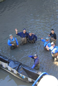 You can thank these folks for cleaning the Museum Reach portion of the San Antonio River.