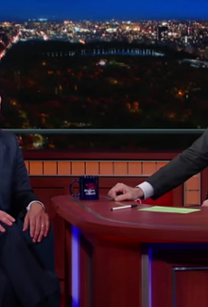 Housing and Urban Development Secretary Julian Castro appeared on The Late Show with Stephen Colbert Monday night.