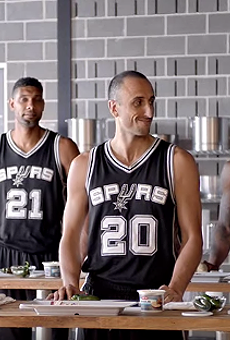 The Spurs are cooking.