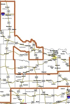 A map of Texas' gerrymandered-to-hell 68th District.