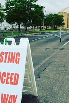 COVID-19 testing site at Freeman Coliseum in San Antonio