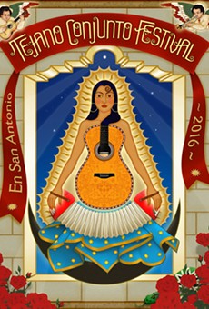The official poster for the Guadalupe Cultural Arts Center's 35th Tejano Conjunto Festival