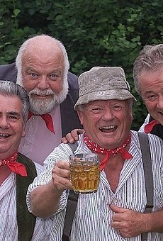 The Wurzels doing what they do best.