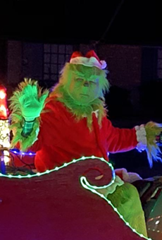 The Grinch has been spotted in Northeast San Antonio driving a light-up sleigh