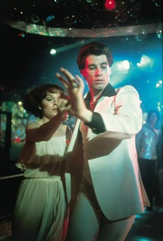 Johnny T. as the blue collar rug-cutter Tony Manero.