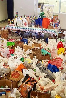 State Rep. Diego Bernal's Fiesta Medal Food Drive Has Out of this World Success