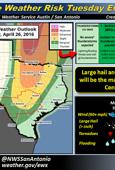 Damaging Hail Could Strike San Antonio Tuesday