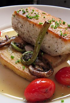 Alaskan halibut, one of the new menu items at Tre Enoteca