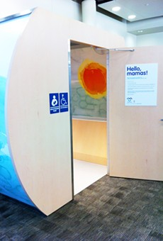 One of the lactation stations at San Antonio International Airport.