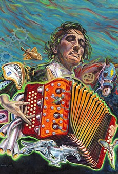 Local Painter Gilbert Durán's Surrealist Tribute to Conjunto Icon Flaco Jiménez