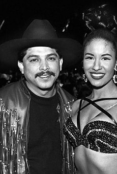 The king and queen of Tejano, Emilio Navaira and Selena Quintanilla.
