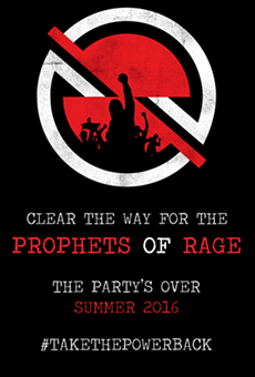 Prophets of Rage Email Flyer