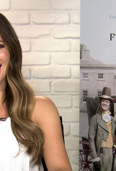 Actress Kate Beckinsale laughing during a satellite interview with the San Antonio Current last week.