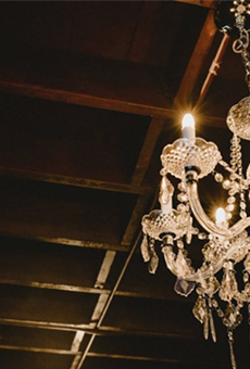 The chandeliers now installed at 1011 Avenue B, somewhat reminiscent of San Francisco's Fillmore.