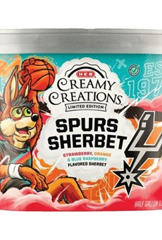 H-E-B and the San Antonio Spurs release tri-color sherbet in honor of new Fiesta jerseys