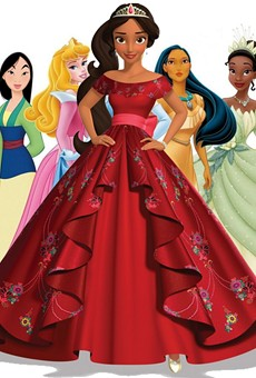 Elena Castillo Flores, front and center, is Disney's first Latina princess. She makes her TV debut on July 22 on the Disney Channel series Elena of Avalor.