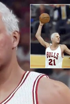 San Antonio Spurs coach Gregg Popovich gets some major playing time in a modified version of the video game NBA 2K16.