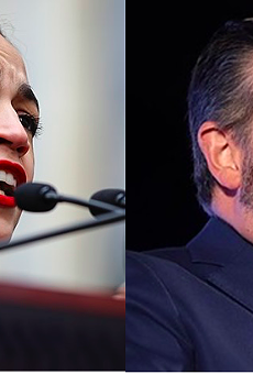 U.S. Rep. Alexandria Ocasio-Cortez (left) and U.S. Sen. Ted Cruz (right)