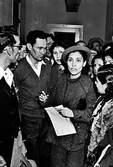 Labor organizer Emma Tenayuca (center) was one of the many San Antonians involved in the Mexican American civil rights struggle.