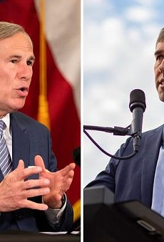 Gov. Greg Abbott, left, and former U.S. Rep. Beto O'Rourke, D-El Paso. The two traded criticisms Thursday as speculation mounts over whether O'Rourke will challenge Abbott in 2022.