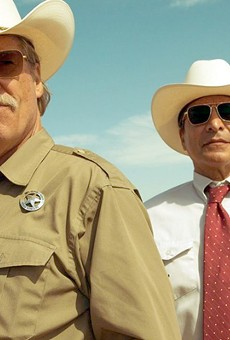 (From left) Oscar winner Jeff Bridges and Gil Birmingham star as Texas Rangers in Hell or High Water.