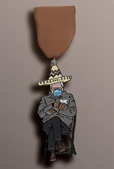 San Antonio's Merit Coffee unveils meme-tastic Uncle Bernie Fiesta medal