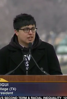 Ruben Verastigui speaks at the2013 March for Life rally in Washington D.C.