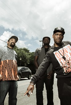 Black (and Brown) Rhymes Matter. From left: Marco Cervantes, DJ Chicken George and Easy Lee, the core of the Third Root collective.