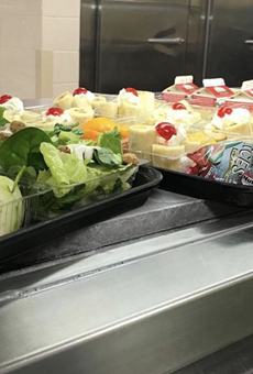 NEISD also distributed food to children during school closures in Spring 2020.