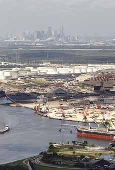 Refinery complexes along the Houston Ship Channel in 2016. The bulk of the emissions released during the winter storm and power crisis in Texas last week were from the Houston region, according to an analysis by Texas environmental groups.