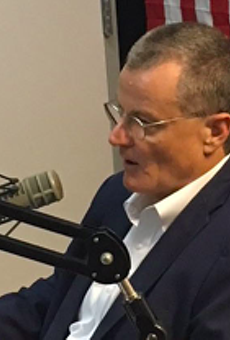ERCOT CEO Bill Magness speaks about the power grid during an appearance at radio station KURV.
