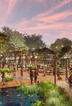 This rendering shows the proposed redevelopment of the Lone Star Brewery site.