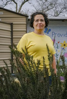 Jennifer Sierra tends to the St. Phocas Garden, growing an assortment of vegetables and herbs year-round to supplement a local food pantry — the only source of fresh produce for some of its clients.