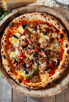 Dough's Prosciutto Sugo Pizza is among the recipes sent to Guy Fieri.